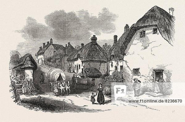 THE PEASANTRY OF DORSETSHIRE: INTERIOR OF A DORSETSHIRE LABOURER'S COTTAGE  1846