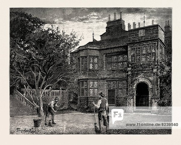 DRAWN BY PERCY MACQUOID  THE MANOR HOUSE  engraving 1890