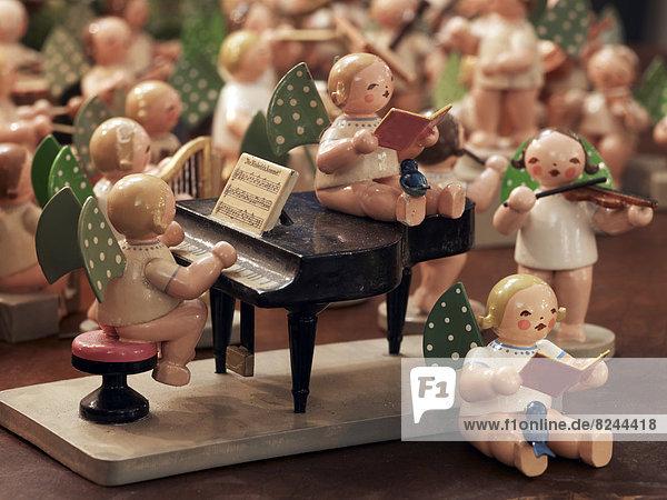 Berg Dekoration Musik Gegenstand Tisch Erzgebirge Handwerkserzeugnis spielen