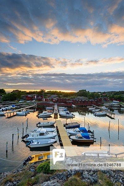 Abend Jachthafen