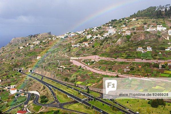 Landschaft über Madeira Regenbogen