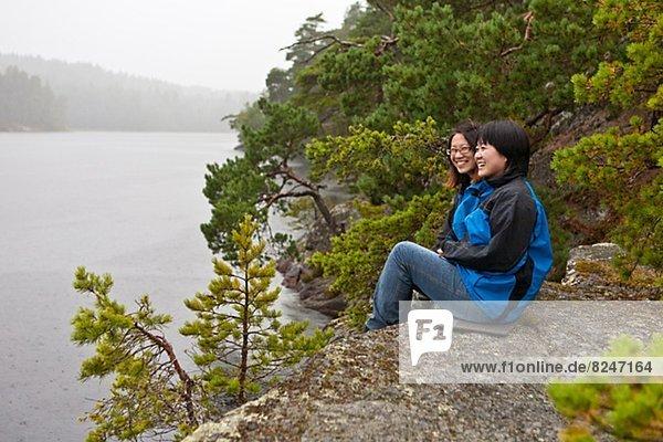 sitzend  Tourist  See  2