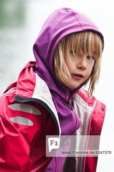 Regenmantel  Portrait  Kleidung  Mädchen