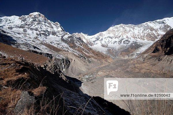 camping  Moräne  Annapurna  Nepal  Süden