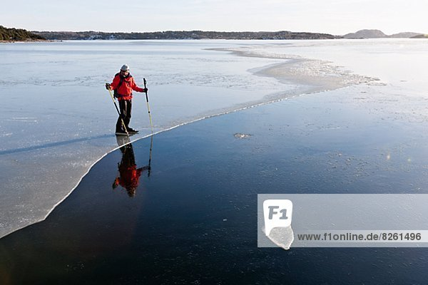 Man ice-skating