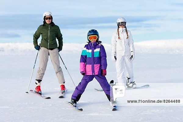 Skisport  2  Tochter  Mutter - Mensch