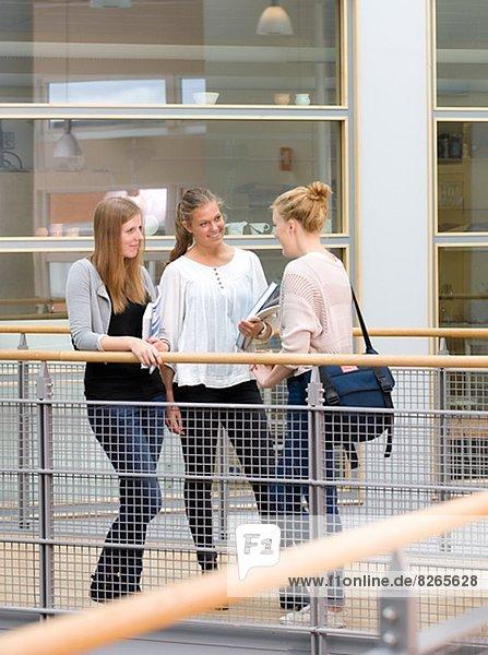 Korridor  Korridore  Flur  Flure  sprechen  Student  3  Universität