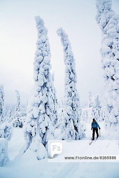 Frau Skifahren