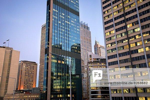 Gebäude  Großstadt  Beleuchtung  Licht  Büro  Abenddämmerung  Sydney