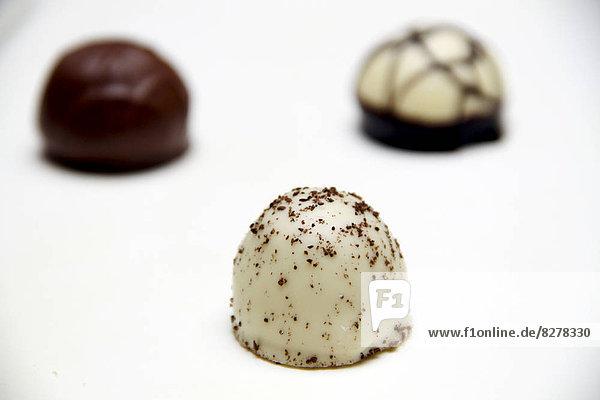 hoch  oben  nahe  Reichtum  Schokolade