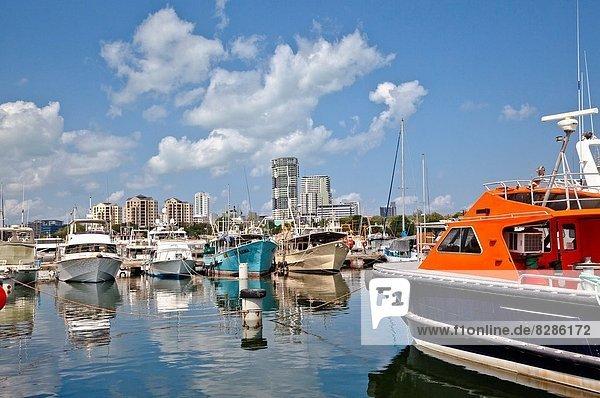 Großstadt  Jachthafen  Ansicht  Australien  Darwin  Northern Territory