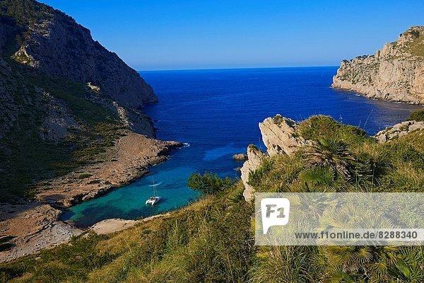 Europa UNESCO-Welterbe Balearen Balearische Inseln Cala Figuera Mallorca Spanien