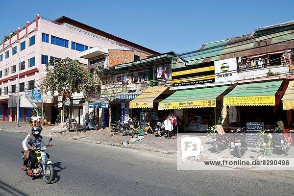 Landschaftlich schön landschaftlich reizvoll Straße typisch Kambodscha