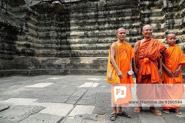 fünfstöckig  Buddhismus  Mönch  Angkor  Kambodscha