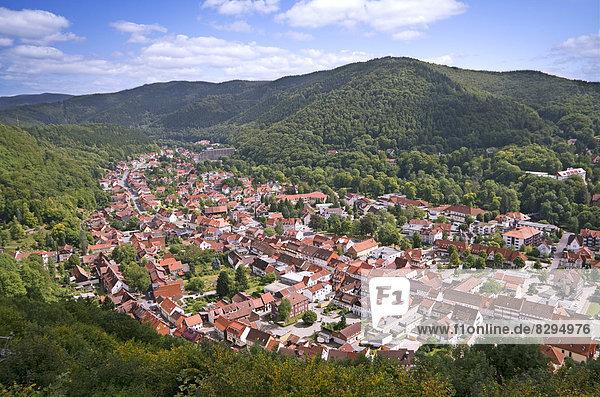 Deutschland  Niedersachsen  Harz  Blick auf Bad Lauterberg