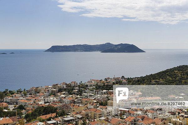 Türkei  Provinz Antalya  Blick von Kas auf die Insel Kastellorizo