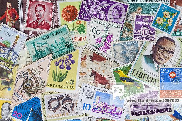 Briefmarkensammlung  Nahaufnahme