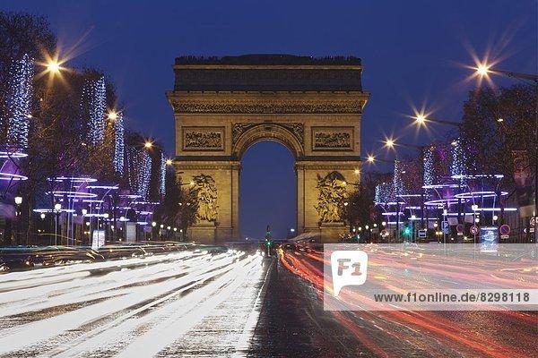 Paris  Hauptstadt  Frankreich  Europa  Brücke  Weihnachten