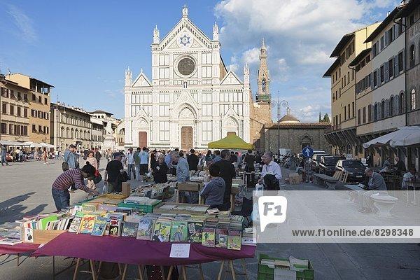 Europa  Kirche  frontal  UNESCO-Welterbe  Florenz  Floh  Italien  Markt  Toskana