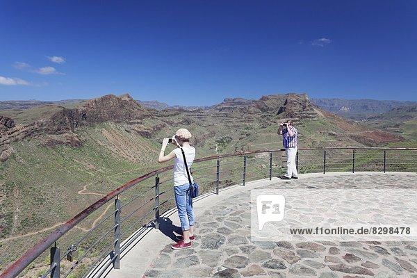 Europa  über  Ansicht  Atlantischer Ozean  Atlantik  Kanaren  Kanarische Inseln  Gran Canaria  Mirador  Spanien