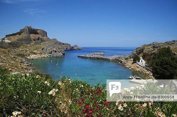 Europa Dodekanes Griechenland Griechische Inseln Lindos Rhodos