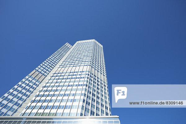 Fassade von modernem Bürogebäude Frankfurt Deutschland