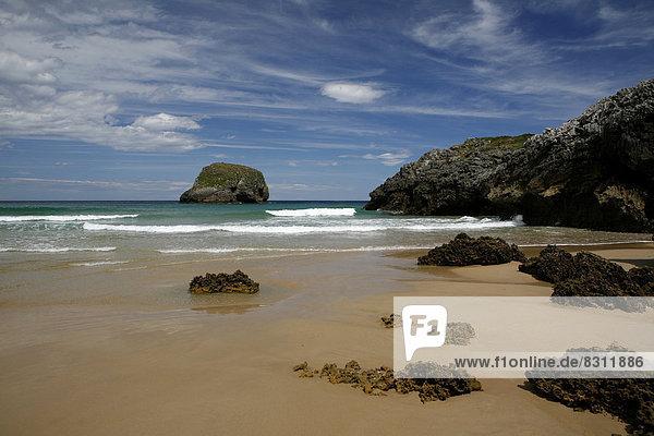 Felsen  spanische Atlantikküste  Costa Verde