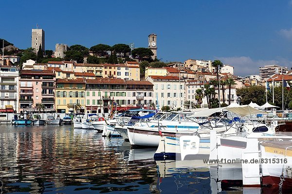Europe  France  Alpes-Maritimes  Cannes. The old town and the old port.