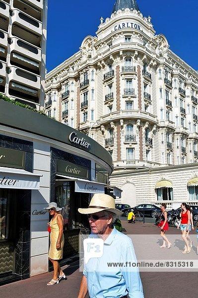 Europe  France  Alpes-Maritimes  Cannes. La Croisette  Carlton palace hotel.