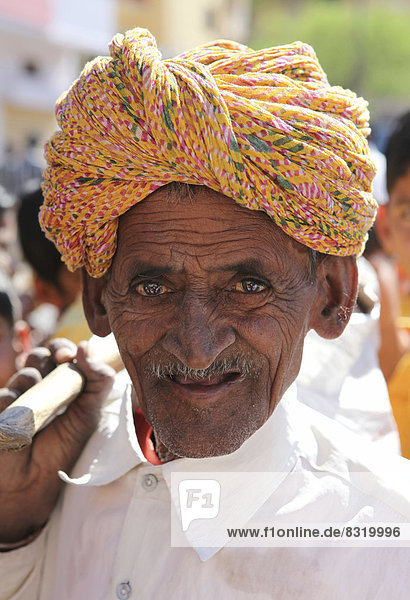 Alter Mann mit Turban  Portrait