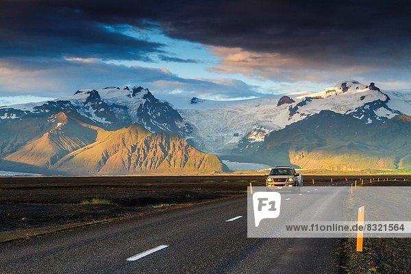 überqueren  Europa  Berg  Verkehr  Landschaft  Allradantrieb  Island  Süden