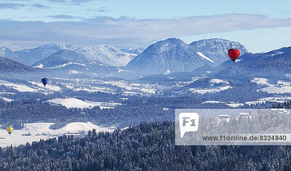 Ballonflug im Tiroler Unterinntal