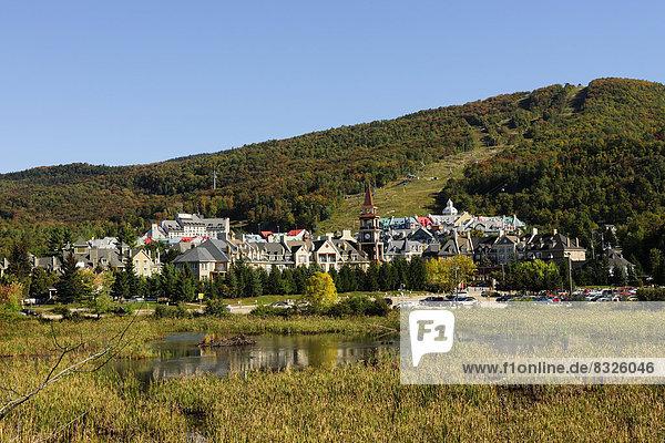 Stadt Herbst Mont-Tremblant Quebec