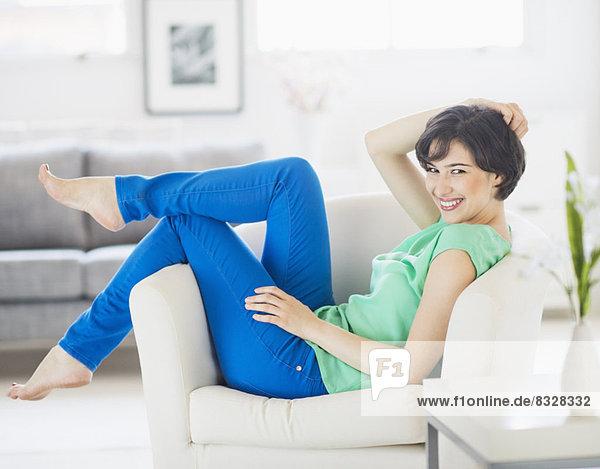Interior,  zu Hause , Portrait , Frau , Fröhlichkeit , Entspannung