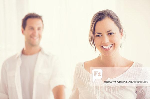 Porträt von glückliches paar