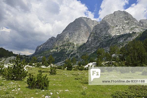 Albanien  Theth-Tal  Ropojana-Tal und Prokletije Gebirge