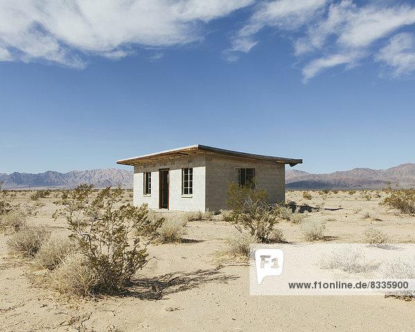 Landschaft Gebäude klein Wüste verlassen Mojave-Wüste