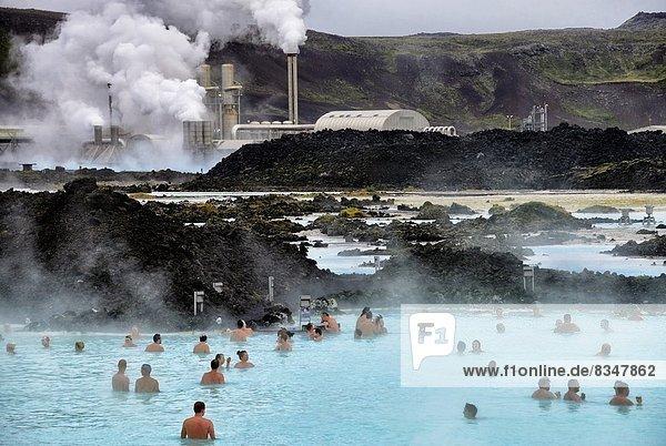 Quelle  Wärme  Wahrzeichen  blau  Island  Lagune  Mineral