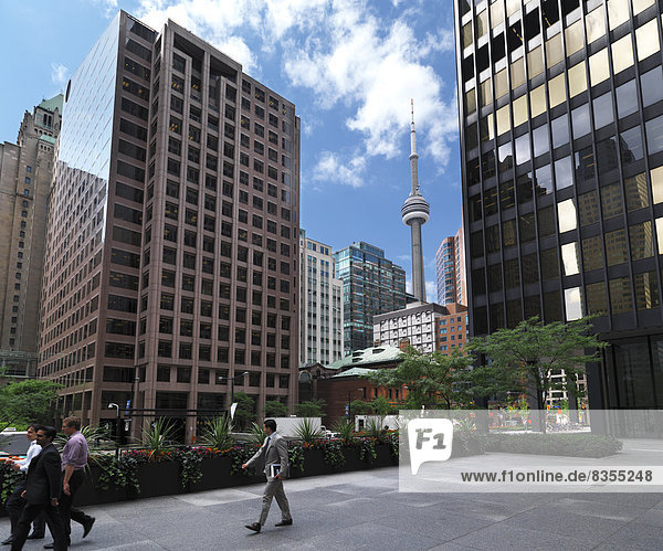 Hochhäuser  CN Tower hinten  Downtown Toronto  Toronto  Provinz Ontario  Kanada