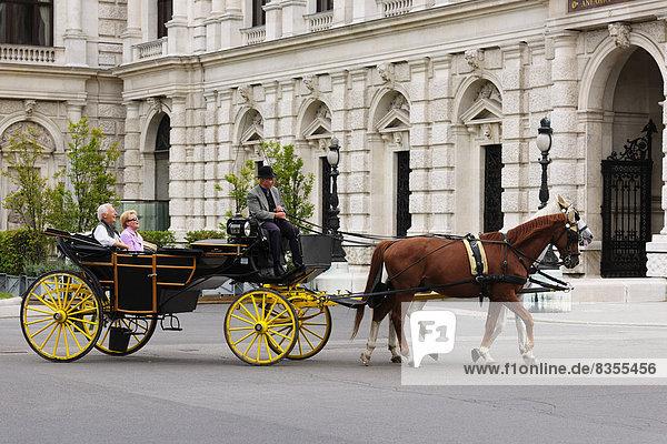 Fiaker vor dem Burgtheater  Wien  Österreich