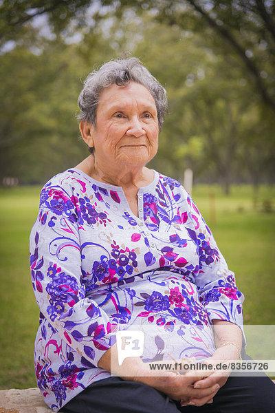 USA  Texas  Portrait of senior woman