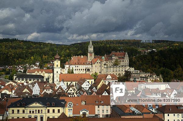 Deutschland  Baden Württemberg  Sigmaringen  Blick auf Schloss Sigmaringen