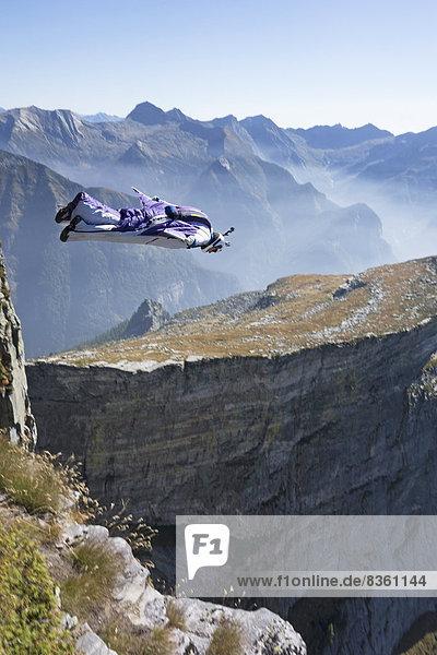 Basejumper  Brione  Tessin  Switzerland  Europe