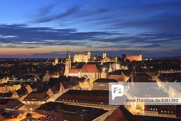 Kaiserburg and St. Sebald  Nuremberg  Franconia  Germany  Europe