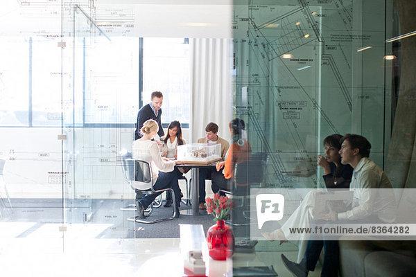 Treffen im Architekturbüro