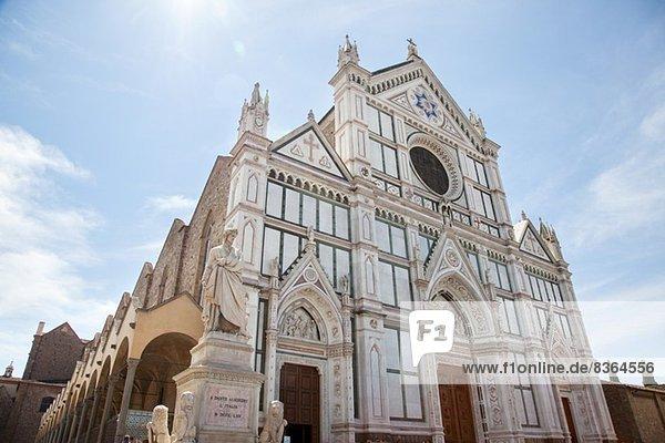 Kirche Santa Croce  Piazza di Santa Croce  Florenz  Toskana  Italien