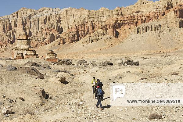 Steilküste  Tal  3  klettern  Mustang  Nepal