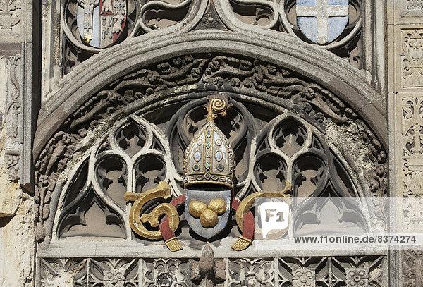 Skulptur  Wand  Symbol  bunt  Kathedrale  England  Kent