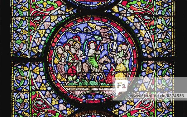 Fenster  Glas  bunt  Schmutzfleck  Kathedrale  England  Kent