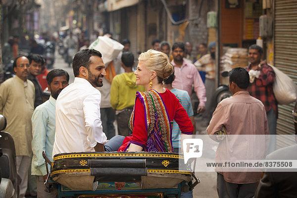 fahren  mischen  Indien  Mixed  Punjab  Rikscha